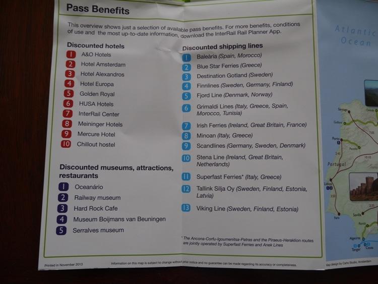 InterRail Pass Benefits