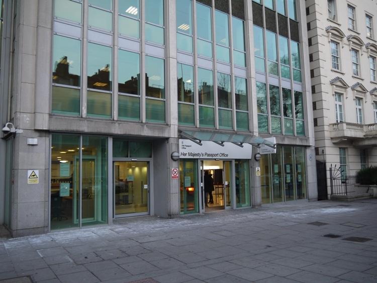 London Passport Office, Globe House, Victoria