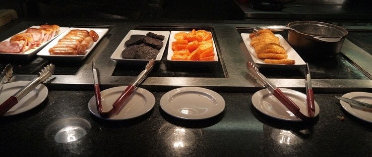 Choice Of Hot Dishes At Breakfast - Marriott Hotel Swansea