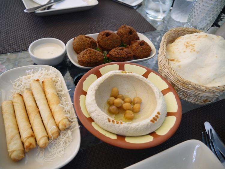 Falafel, Hummus & Cheese Rolls At Nadimos, Baan Silom, Bangkok