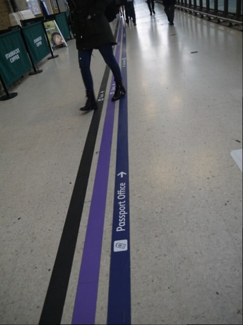 Direction Lines For Passport Office