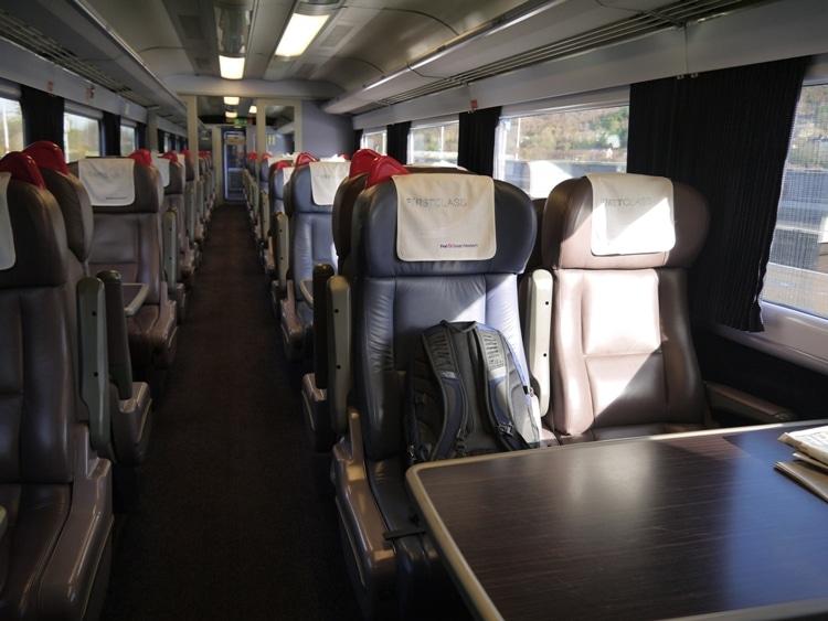 First Class Carriage Of Swansea To London Paddington Train