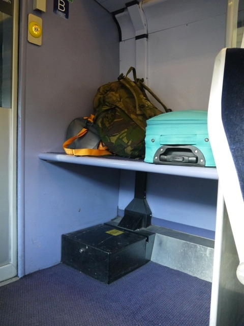 Luggage Rack On First Great Western Cardiff To Bath Train