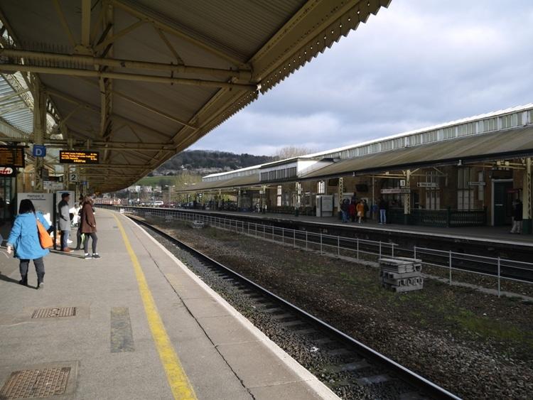 Bath Spa Train Station, England