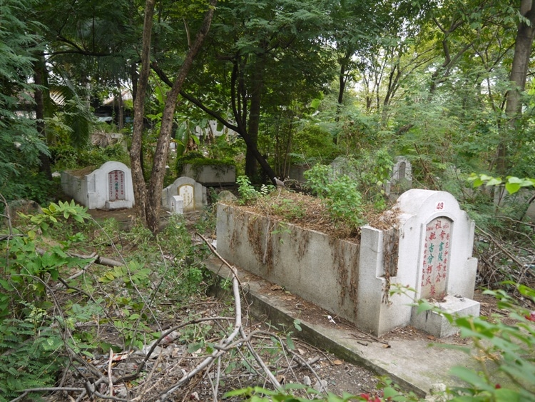 Neglected Graves At Teochew Chinese Cemetery, Bangkok