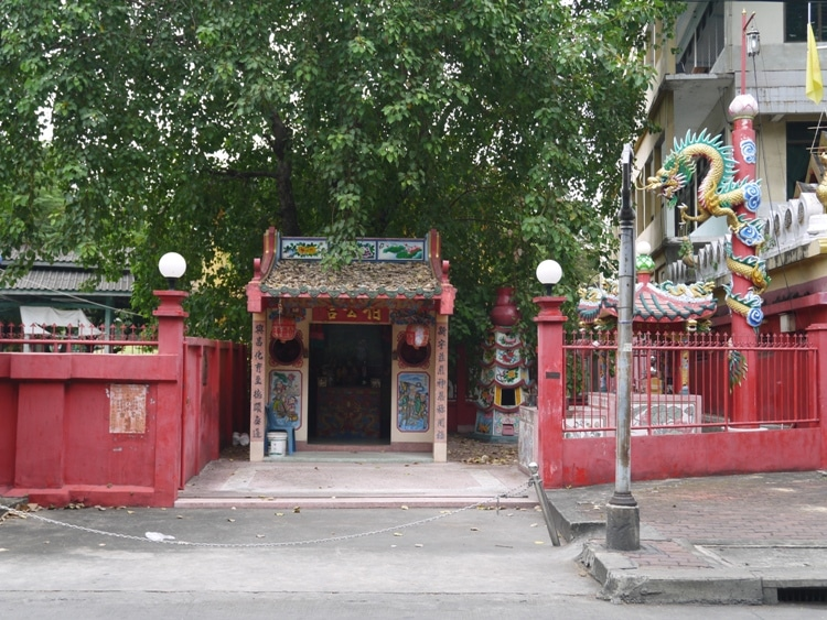 Chinese Temple At Teochew Chinese Cemetery, Bangkok