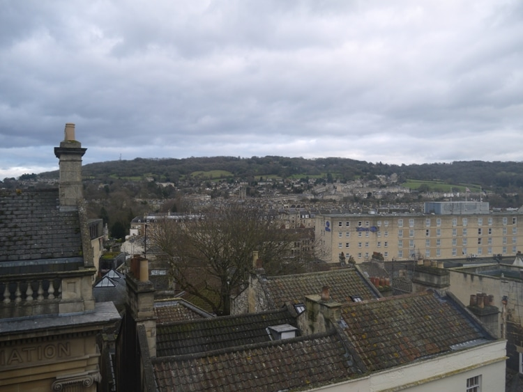 View From Our Room At Central Bath Travelodge