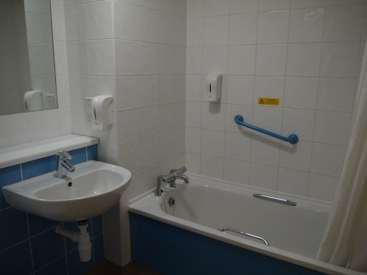 Bathroom At Swansea Central Travelodge