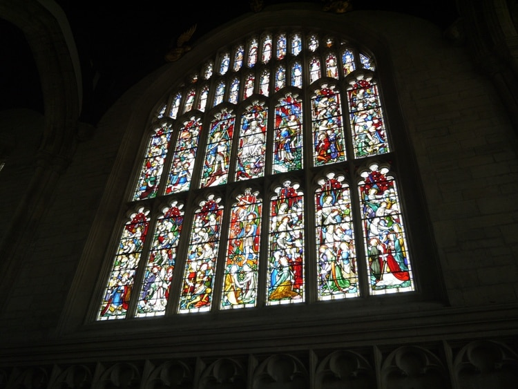 Stunning Stained Glass Windows At All Souls College Chapel, Oxford