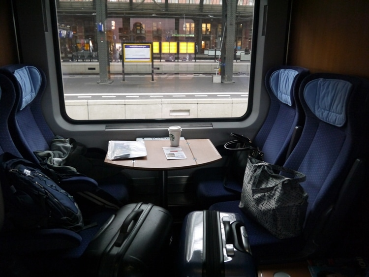 Our Compartment On The Amsterdam To Berlin Train