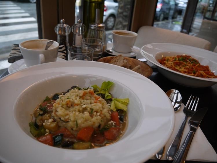 Risotto Cremeux, Wok De Legumes At Brasserie Lola, Paris