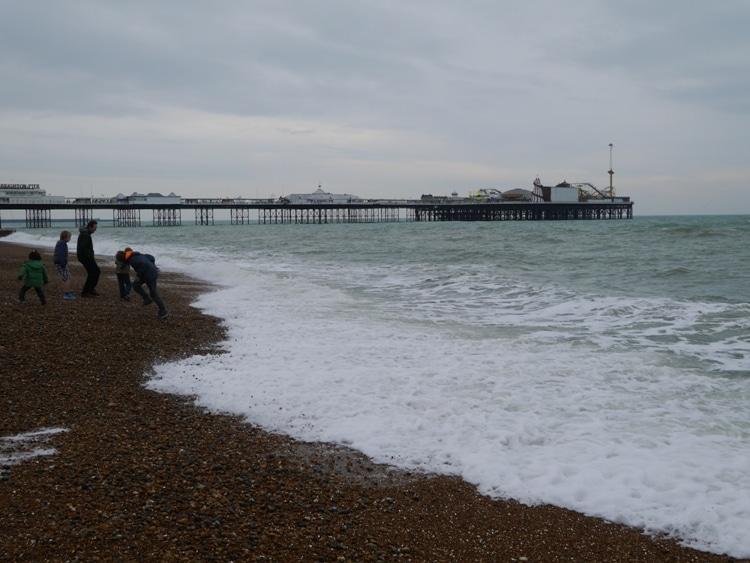 Brighton Beach & Pier In Winter