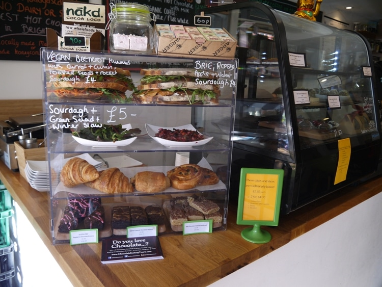 Simple Lunch Selection At Chocaffinitea, Brighton