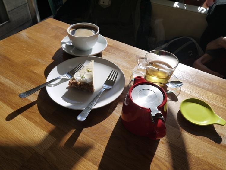 Tea, Coffee & Vegan Key Lime Pie At Chocaffinitea, Brighton