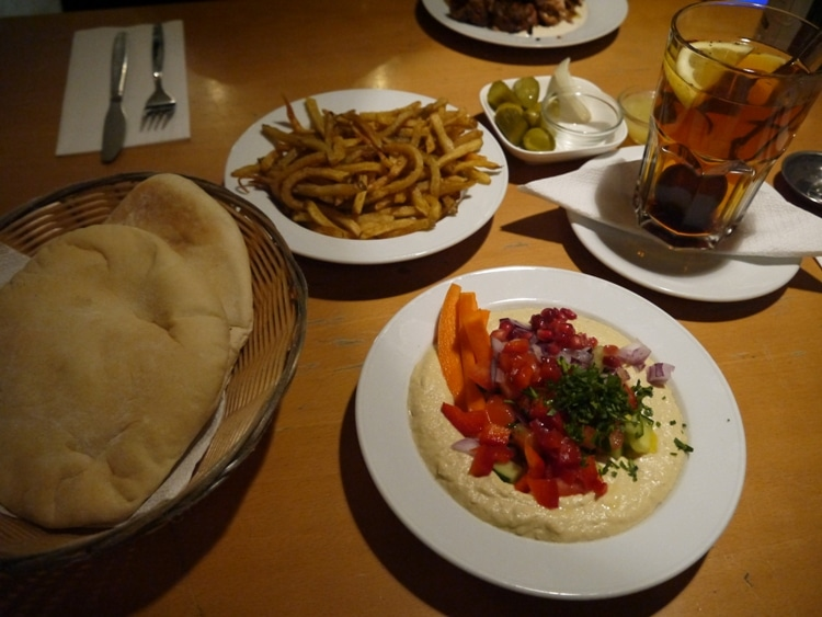Hummus Plate At Djimalaya, Mitte, Berlin