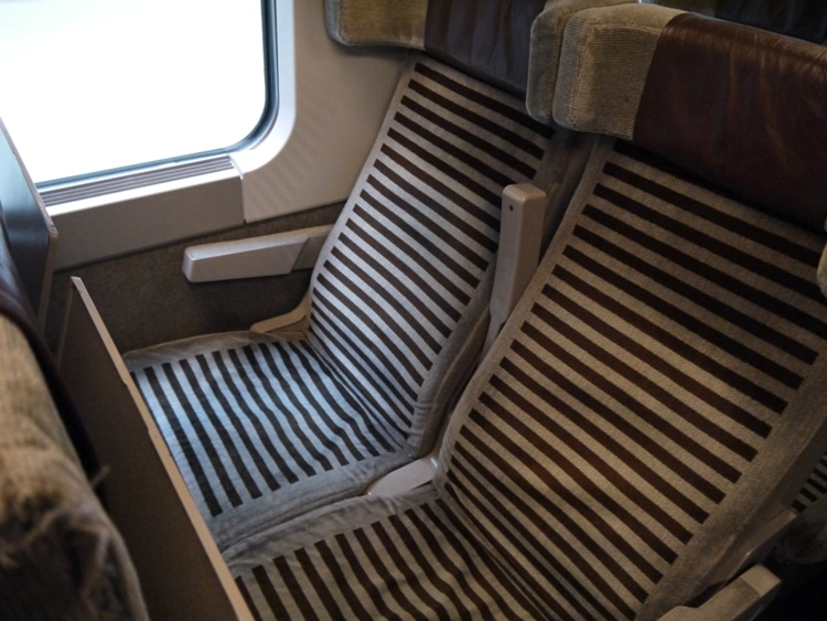 Comfortable Seats On Eurostar