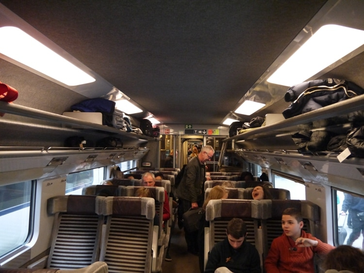 Our Eurostar Carriage