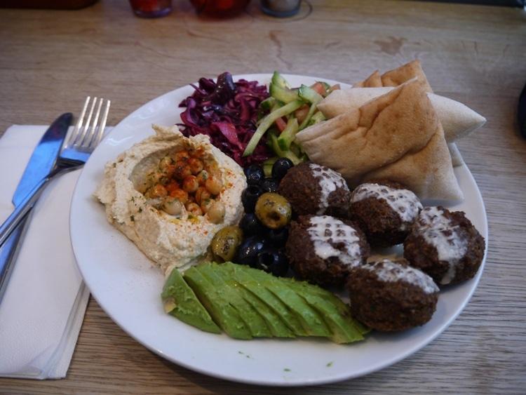 Falafel Plate At FilFil Cafe, Gardner Street, Brighton
