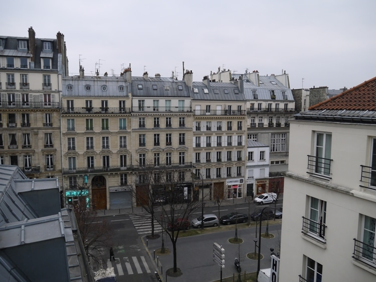 View From Our Balcony At Hotel Darcet, Paris
