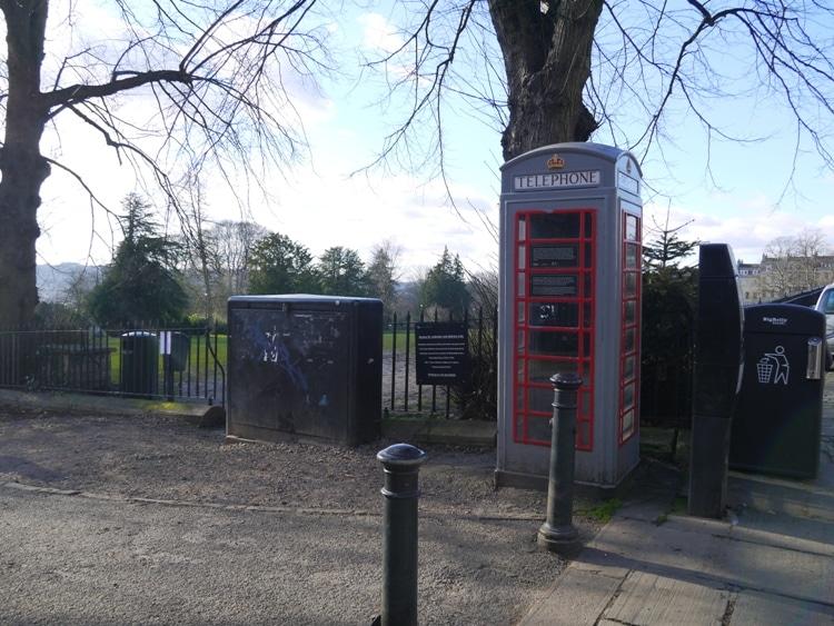 A Rare Grey K6 Telephone Kiosk, Royal Crescent, Bath