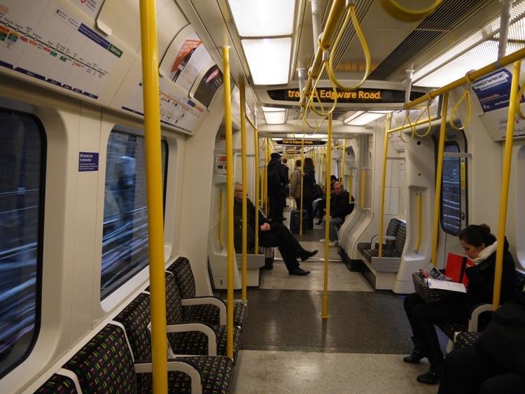 Circle Line Train On London Underground