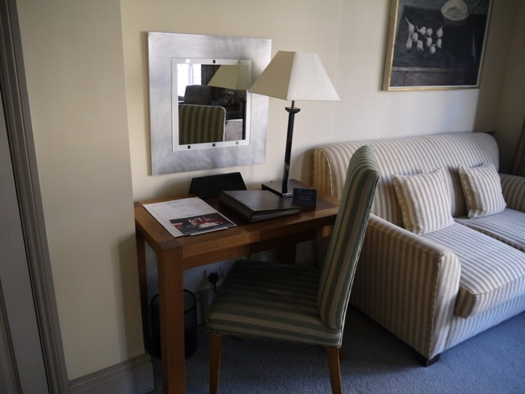 Desk & Sofa At The Old Bank Hotel, Oxford