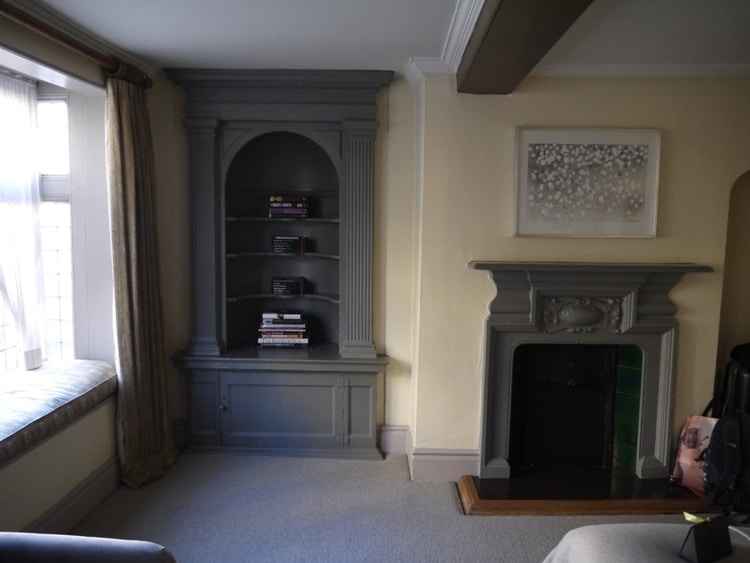 Mini Library & Fireplace At The Old Bank Hotel, Oxford