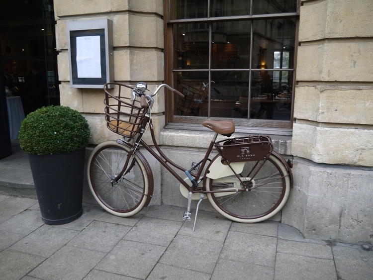 Guest Bicycle At Old Bank Hotel, Oxford