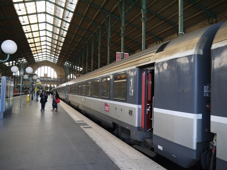Paris To Amiens Train At Gare du Nord Station