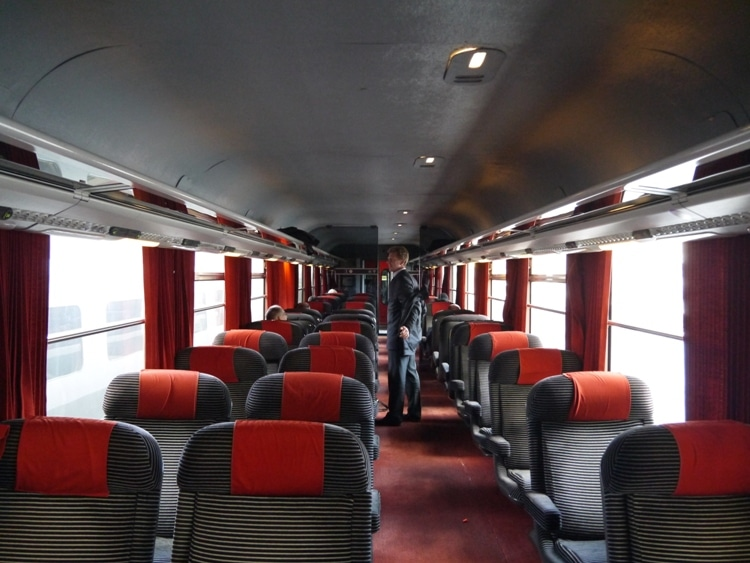 First Class Carriage On Paris To Amiens Train