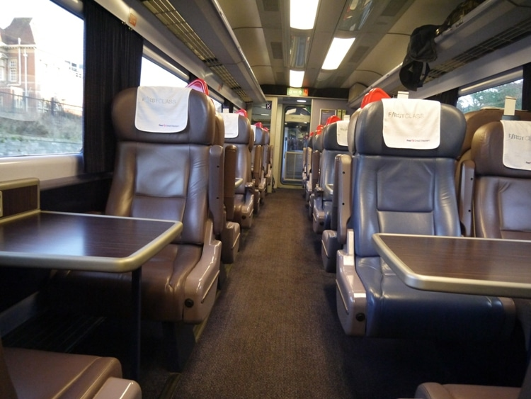 First Class Carriage Of Plymouth To Reading Train