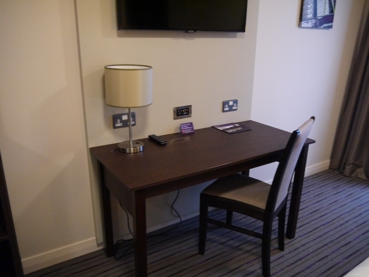 Desk & Chair At Premier Inn, Cambridge