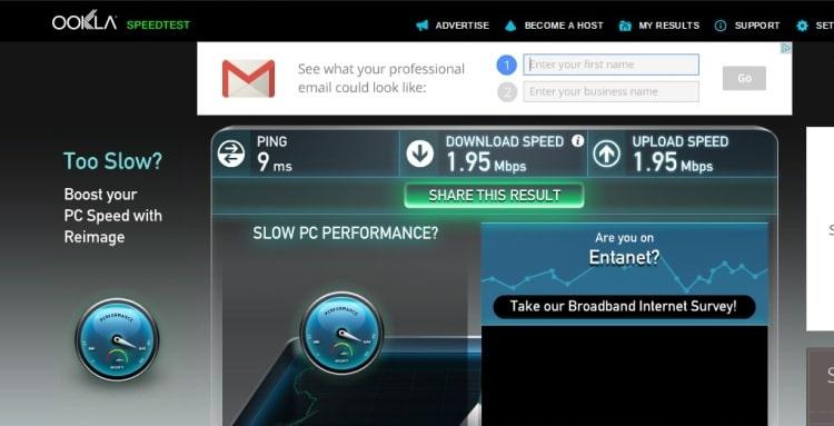 Wifi Speed Test At Queensberry Hotel, Bath