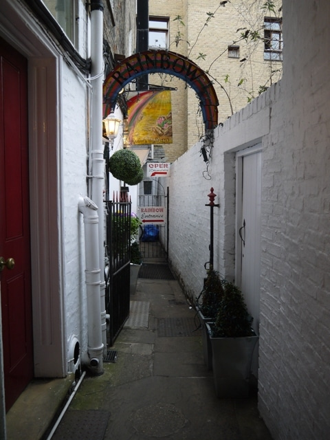 Entrance To Rainbow Cafe, Cambridge