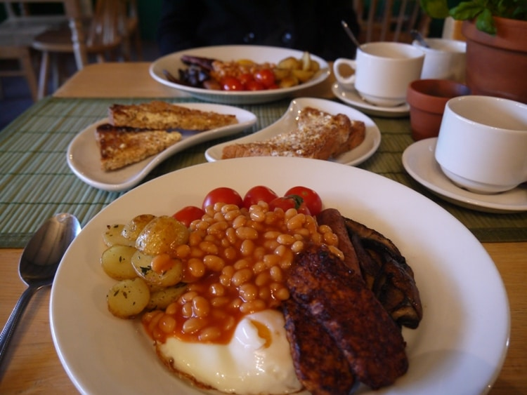 Veggie Breakfast At Samphire Brasserie, Plymouth