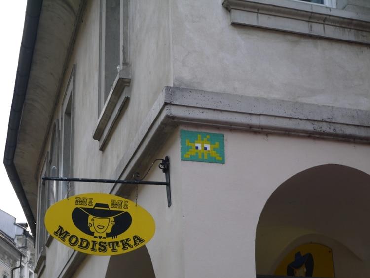 Space Invader, Trubarjeva, Ljubljana, Slovenia