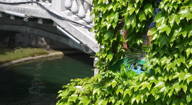 Space Invader, Triple Bridge, Ljubljana, Slovenia