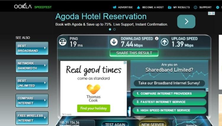 Wifi Speed Test At Brighton Seafront Travelodge