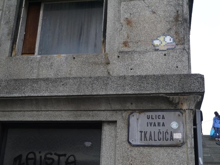 Space Invader, Ulica Ivana Tkalcici, Zagreb, Croatia