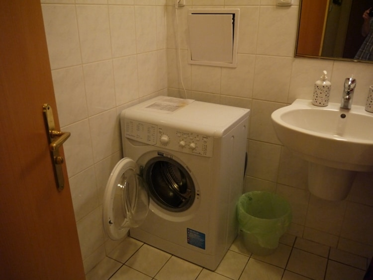 Washing Machine At Our Airbnb Apartment In Prague