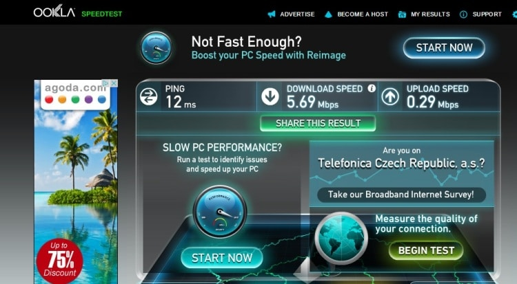 Wifi Speed Test At Our Airbnb Apartment In Prague