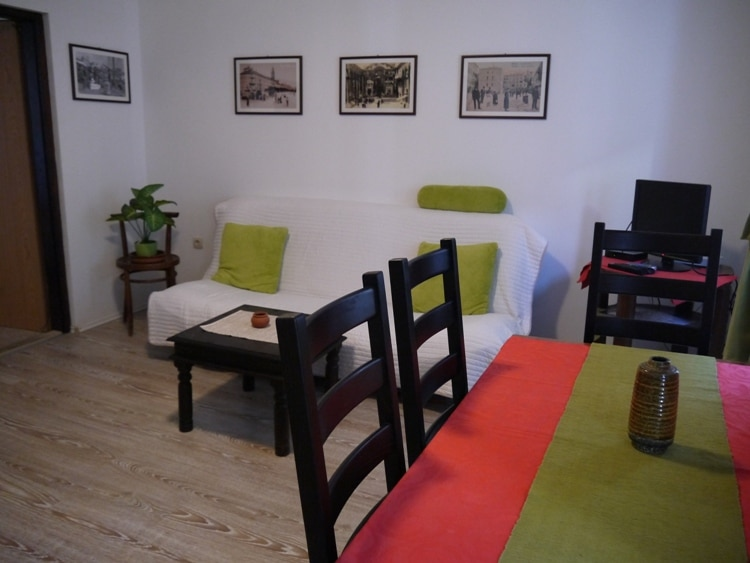 Living Room At Airbnb Apartment In Split, Croatia