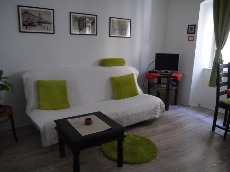 Bed-Settee At Airbnb Apartment In Split, Croatia