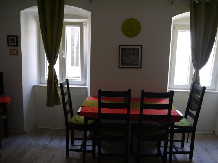 Dining Table At Airbnb Apartment In Split, Croatia