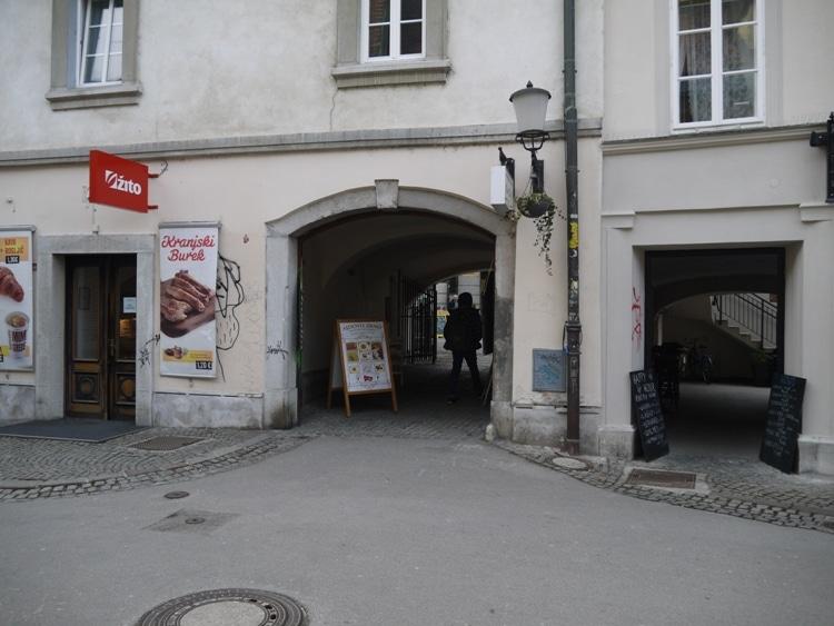 Ajdovo Zrno Entrance, Ljubljana, Slovenia