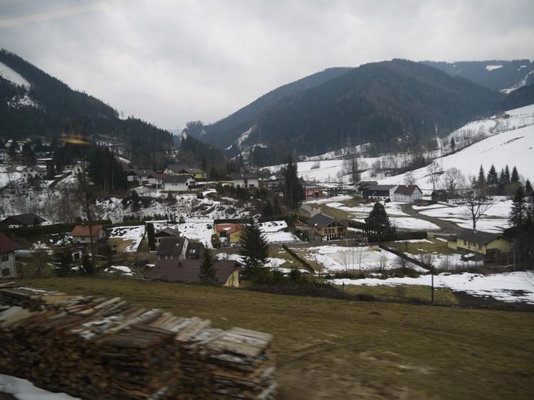 A Snowy Landscape In Austria