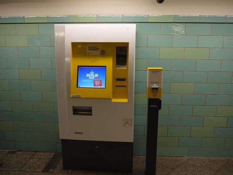 A U-Bahn Ticket Machine And Ticket Validating Machine