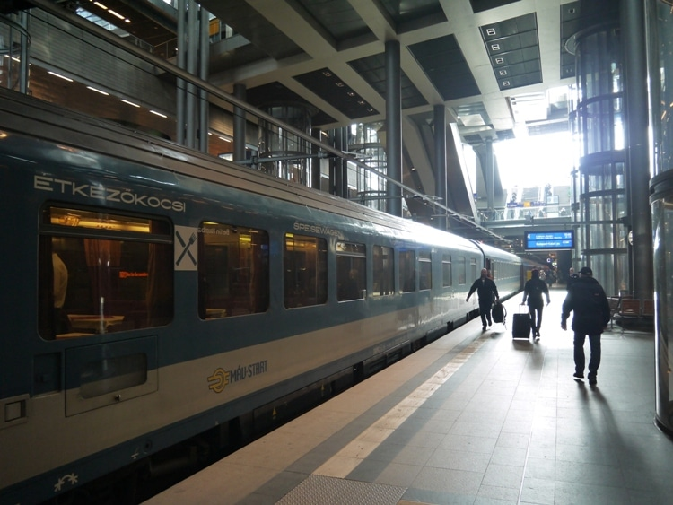 Our Train Waiting To Depart Berlin HBF Station