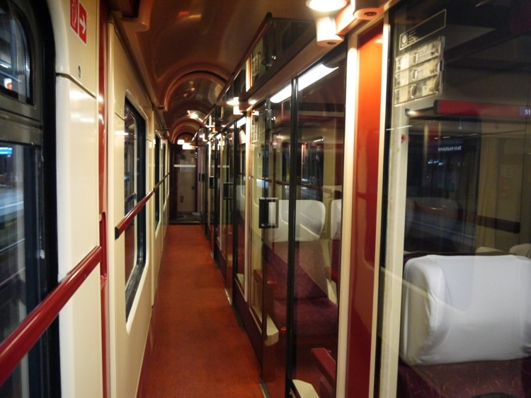 First Class Compartments On The Berlin To Prague Train