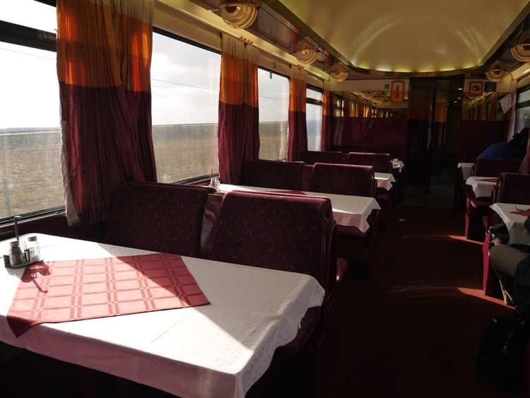 Restaurant Car On Berlin To Prague Train